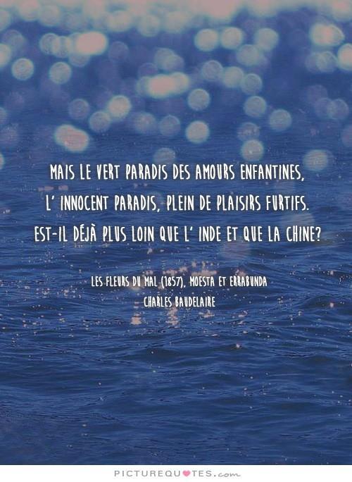 Beaudelaire, parmi un des ces poèmes les plus célèbres