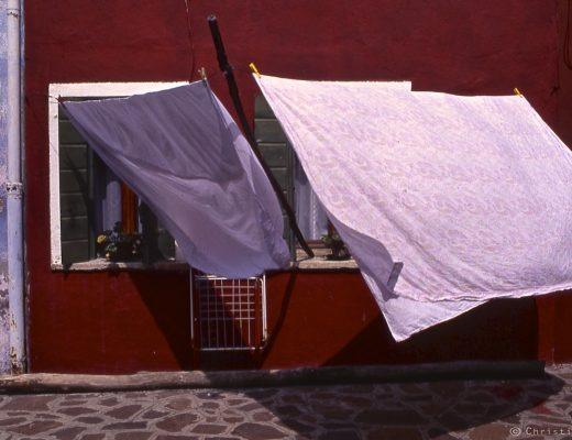 des draps dans le vent